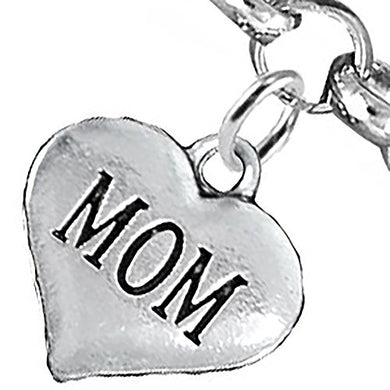 Mom Charm Bracelet, Will NOT Irritate Anyone with Sensitive Skin, Safe, Nickel Free.