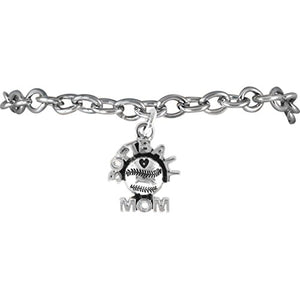 "The Perfect Gift ""Softball Mom Charm"" ©2009 Hypoallergenic, Adjustable, Safe - Nickel & Lead Free"