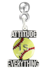 "Attitude Is Everything, Softball Post Earring"" ©2011 Safe - Nickel & Lead Free!"