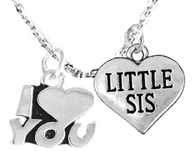 Little Sis I Love You Wheat Chain Bracelet, Hypoallergenic, Safe - Nickel & Lead Free