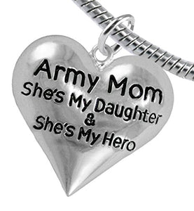 "Army Enlisted ""Daughter"", My Daughter Is My Hero Bracelet, Safe - Nickel & Lead Free."