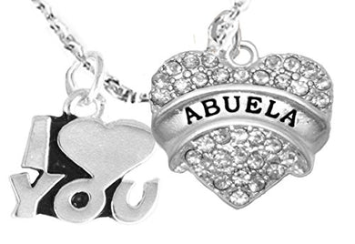 Abuela I Love You Adjustable Curb Chain Necklace, Hypoallergenic, Safe - Nickel & Lead Free