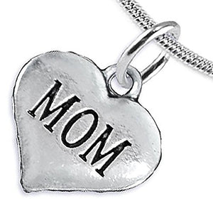 Mom Charm Necklace, Will NOT Irritate Anyone with Sensitive Skin, Safe, Nickel Free.