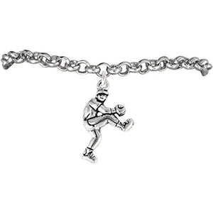"The Perfect Gift ""Softball Pitcher Charm"" Bracelet ©2009 Adjustable, Safe - Nickel & Lead Free"