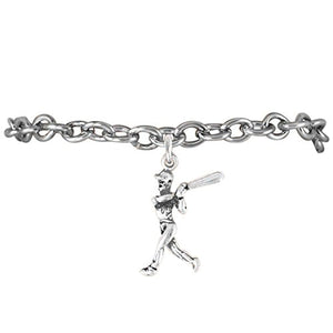 "The Perfect Gift ""Softball Home Run Hit Charm"" Bracelet ©2009 Adjustable, Safe - Nickel & Lead Free"
