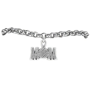 "The Perfect Gift ""Softball Mom Charm"" Bracelet ©2009 Adjustable, Safe - Nickel & Lead Free"