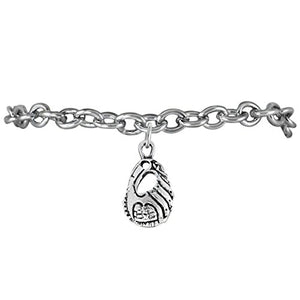 "The Perfect Gift ""Softball Glove Charm"" Bracelet ©2009 Hypoallergenic, Safe - Nickel & Lead Free"