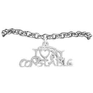 "Constable ""I Love My Constable"" Constables Wife Adjustable Bracelet - Nickel & Lead Free"