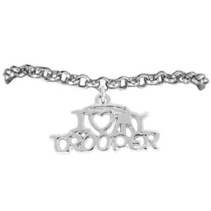 "State Trooper ""I Love My Trooper"" Hypoallergenic Adjustable Bracelet Nickel & Lead Free"