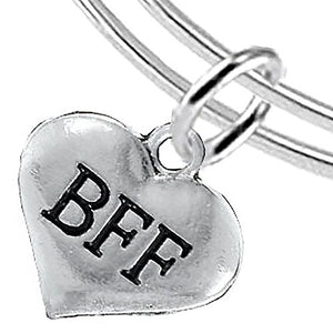 BFF Adjustable Miracle Wire Bracelet, Will NOT Irritate Anyone with Sensitive Skin, Nickel Free