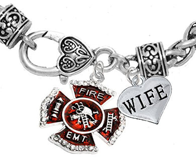 EMT Wife Adjustable Bracelet, Hypoallergenic, Safe - Nickel & Lead Free
