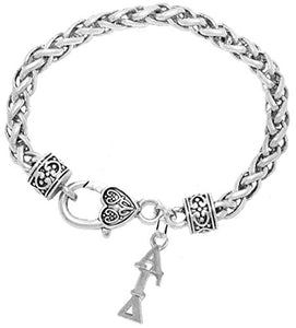 "Alpha Gamma Delta Hypoallergenic Safe Adjustable ""Fits Anyone"" Bracelet Nickel, Lead & Cadmium Free"