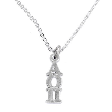 Alpha Omicron Pi - Licensed Sorority Jewelry Manufacturer, Hypoallergenic Safe Lavalier Necklace