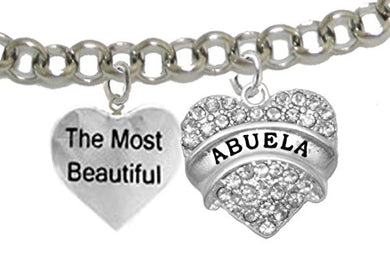 The Most Beautiful Abuela, Adjustable, Hypoallergenic, Safe - Nickel & Lead Free