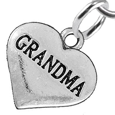 Grandma Heart Charm Fishhook Earrings ©2016 Hypoallergenic, Safe - Nickel, Lead & Cadmium Free!