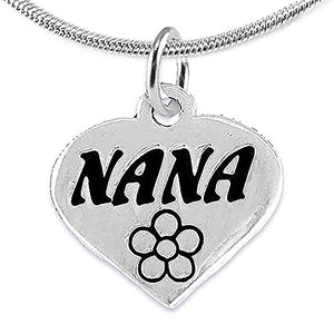 Nana Charm Necklace ©2008 Adjustable, Hypoallergenic, Safe - Nickel, Lead & Cadmium Free!