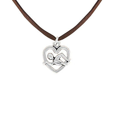 I Love Swimming Necklace Adjustable Hypoallergenic, Safe - Nickel, Lead & Cadmium Free!