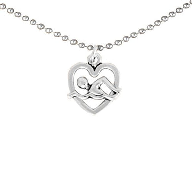 I Love Swimming Necklace 2010 © Adjustable Hypoallergenic, Safe - Nickel, Lead & Cadmium Free!