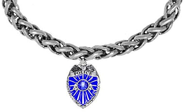 Perfect Gift, Policeman Badge Bracelet Hypoallergenic Safe - Nickel & Lead Free,