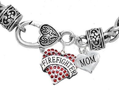 Firefighter Mom Bracelet, Hypoallergenic, Safe - Nickel & Lead Free