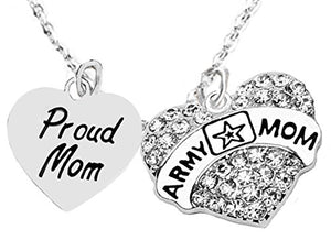 "The Perfect Gift Proud ""Mom"", Army Mom Hypoallergenic Adjustable Necklace, Safe - Nickel & Lead Free"