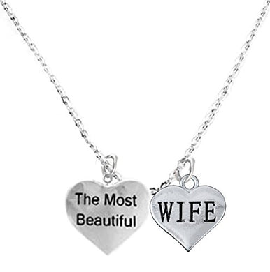 The Most Beautiful Wife Adjustable Curb Chain Necklace, Safe - Nickel & Lead Free.