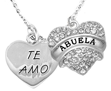 Te Amo Abuela Adjustable Curb Chain Necklace, Hypoallergenic, Safe - Nickel & Lead Free