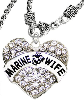 The Perfect Gift Marine Wife Hypoallergenic Necklace, Safe - Nickel, Lead & Cadmium Free
