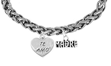Te Amo Madre Wheat Chain Bracelet, Hypoallergenic, Safe - Nickel & Lead Free