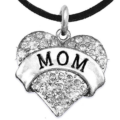 Mom Charm Necklace ©2015 Adjustable, Hypoallergenic, Safe - Nickel, Lead & Cadmium Free!