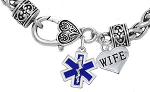 EMT Wife Bracelet, Hypoallergenic, Safe - Nickel & Lead Free