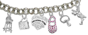 "Grandma to Be, ""It's A Girl"", Adjustable Bracelet, Hypoallergenic, Safe - Nickel & Lead Free"