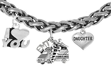 EMT, Daughter Wheat Chain Bracelet, Hypoallergenic, Safe - Nickel & Lead Free