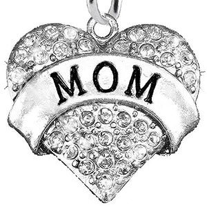 Mom Charm Post Earrings ©2015 Hypoallergenic, Safe - Nickel, Lead & Cadmium Free!