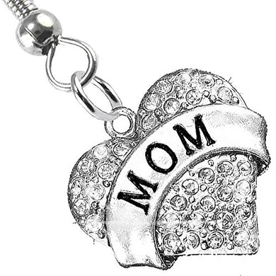 Mom Charm Fishhook Earrings ©2015 Hypoallergenic, Safe - Nickel, Lead & Cadmium Free!