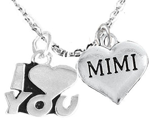 Mimi I Love You Adjustable Curb Chain Necklace, Hypoallergenic, Safe - Nickel & Lead Free