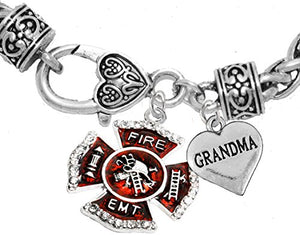 EMT Grandma Adjustable Bracelet, Hypoallergenic, Safe - Nickel & Lead Free