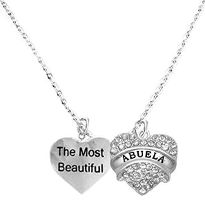 The Most Beautiful Abuela Adjustable Curb Chain Necklace, Safe - Nickel & Lead Free.