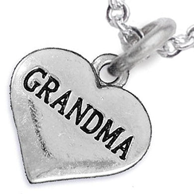 Grandma Heart Charm Necklace ©2016 Hypoallergenic, Adjustable, Safe, Nickel, Lead & Cadmium Free!