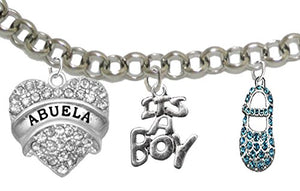 "Abuela, ""It's A Boy"", Adjustable Bracelet, Hypoallergenic, Safe - Nickel & Lead Free"