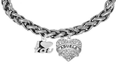 Abuela I Love You Wheat Chain Bracelet, Hypoallergenic, Safe - Nickel & Lead Free