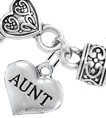 Aunt Charm Bracelet, Will NOT Irritate Anyone with Sensitive Skin, Safe, Nickel Free.