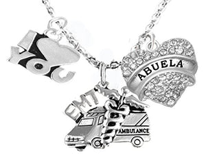 EMT, Abuela Adjustable Necklace, Hypoallergenic, Safe - Nickel & Lead Free