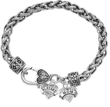 Mom,Blessed Heart And Crystal Mom Heart,Hypoallergenic-No Nickel, Cadmium, Lead, Free 1211-1215B1