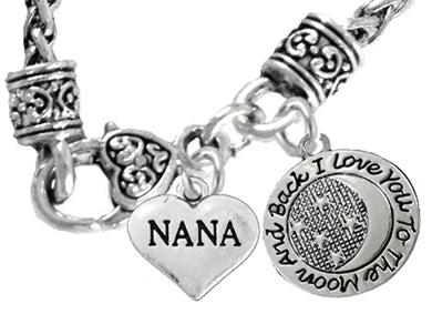Nana,I Love You To The Moon And Back Necklace,No Nickel, Lead 1827-1818N10
