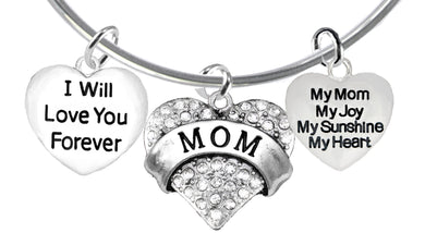 I Will Love You Forever,My Mom, My Joy, My,Adjustable,Hypoallergenic-No Nickel,Lead 1887-1215-1893B9
