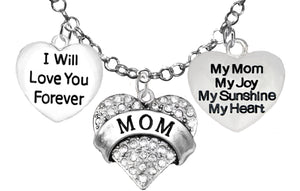I Will Love You Forever,My Mom,My Joy,Adjustable,Hypoallergenic-Nickel,Lead,Free1887-1215-1893N16
