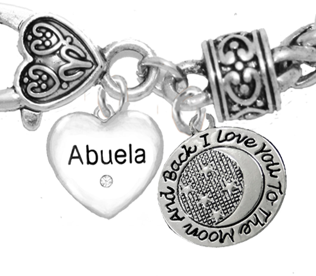 Grandma, Abuela, I Love You To The Moon And Back Bracelet, No Nickel. Lead, Cadmium  1889-1818B1