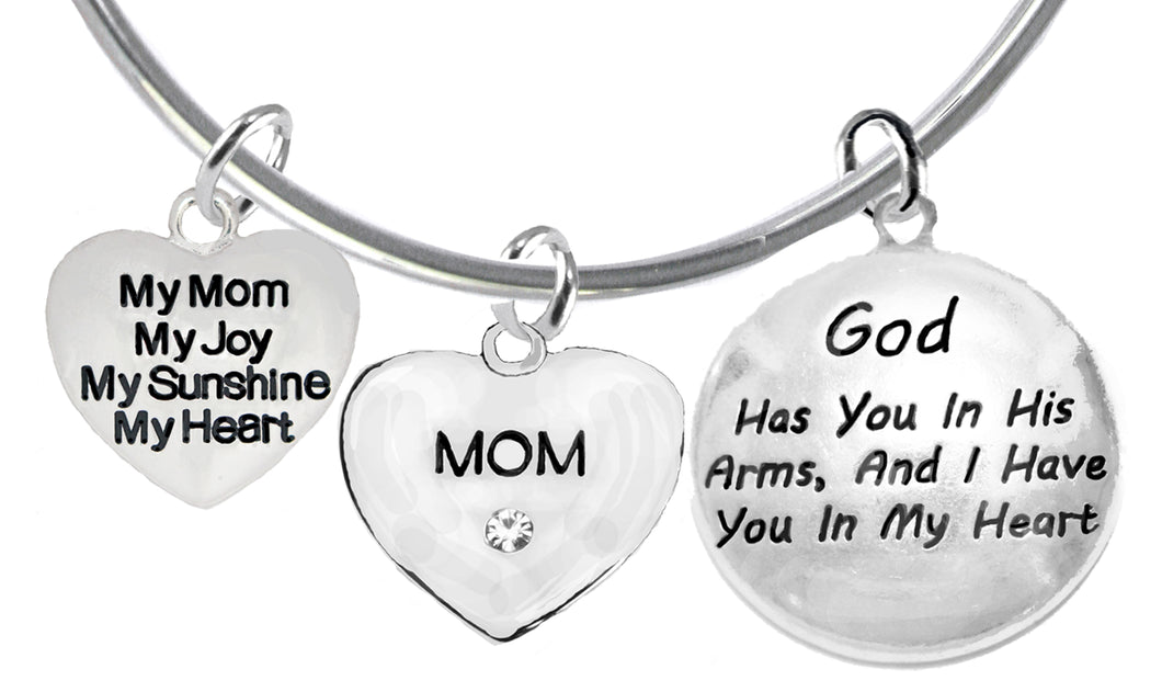 My Mom,My Joy,My Sunshine,God Has You In,Adjustable,Hypoallergenic,Nickel,Lead Free1893-1860-1677B9