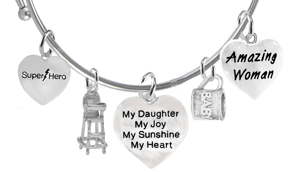 Daughter, Super Hero, Pacifier, My Daughter,Baby Cup, Amazing,No Nickel 1910-1858-600-1855-265B9
